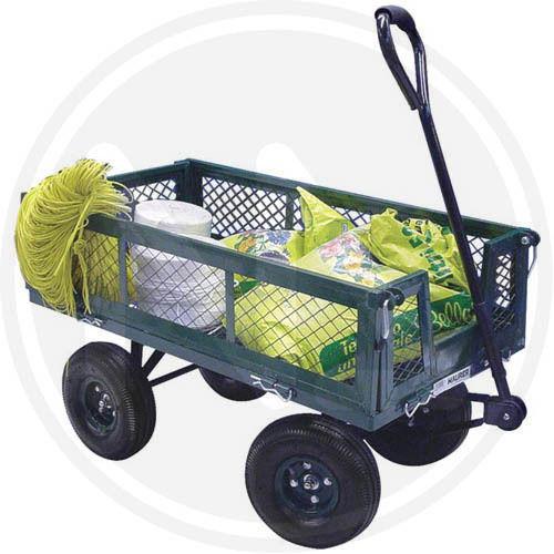Carretto carrello giardino manuale con ruote papillon 92551 for Porta basculante per cani grandi con microchip
