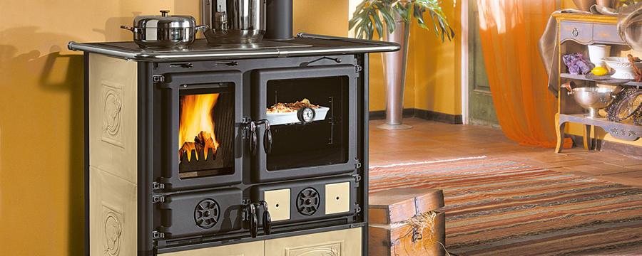 La nordica cucina a legna rosa liberty potenza termica - Cucina a legna rizzoli ...