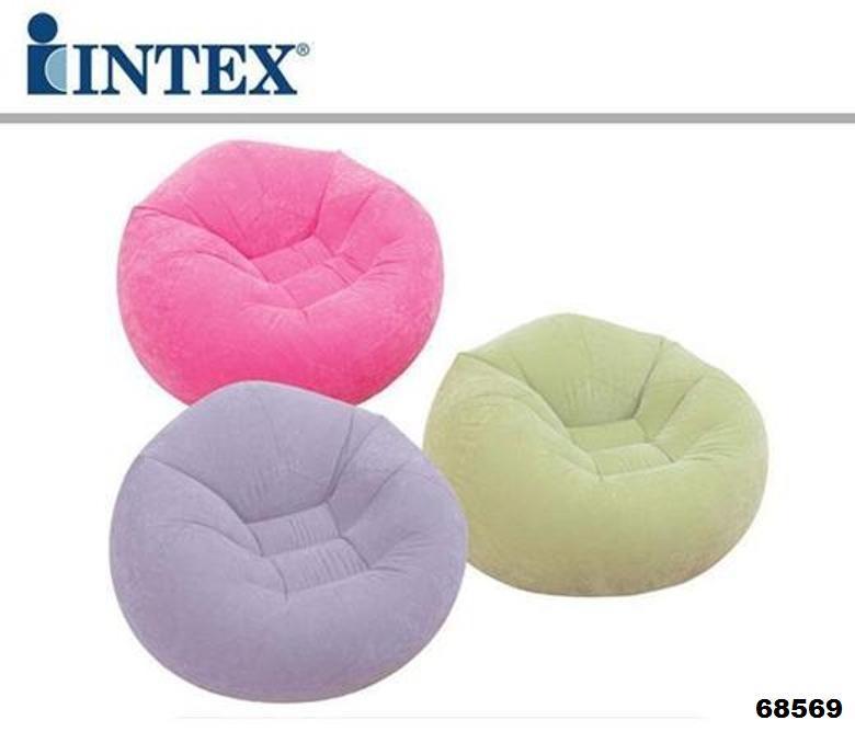 Poltrona gonfiabile intex beanless colori assortiti for Prodotti intex