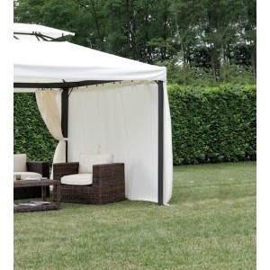Gazebo professionale in alluminio con tende quadrato 3 x 4 for Piani gazebo con camino