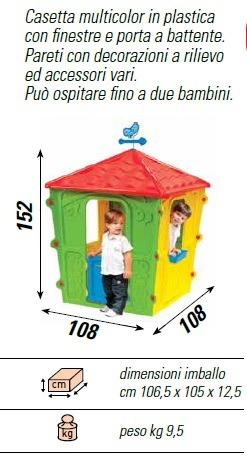Casetta per bambini in plastica da esterno fun altezza 152 for Casetta in plastica per bambini usata