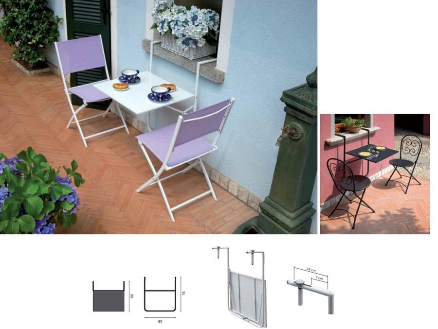 Moia tavolo da ringhiera 60 x 56 cm rtf 19 bianco for Tavolini leroy merlin