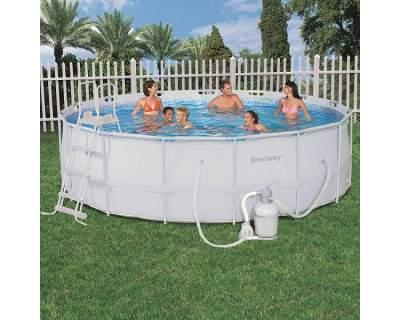 Piscina bestway 56277 ultra frame rotonda cm 488 x 122 h con pompa sabbia - Filtro sabbia piscina bestway ...