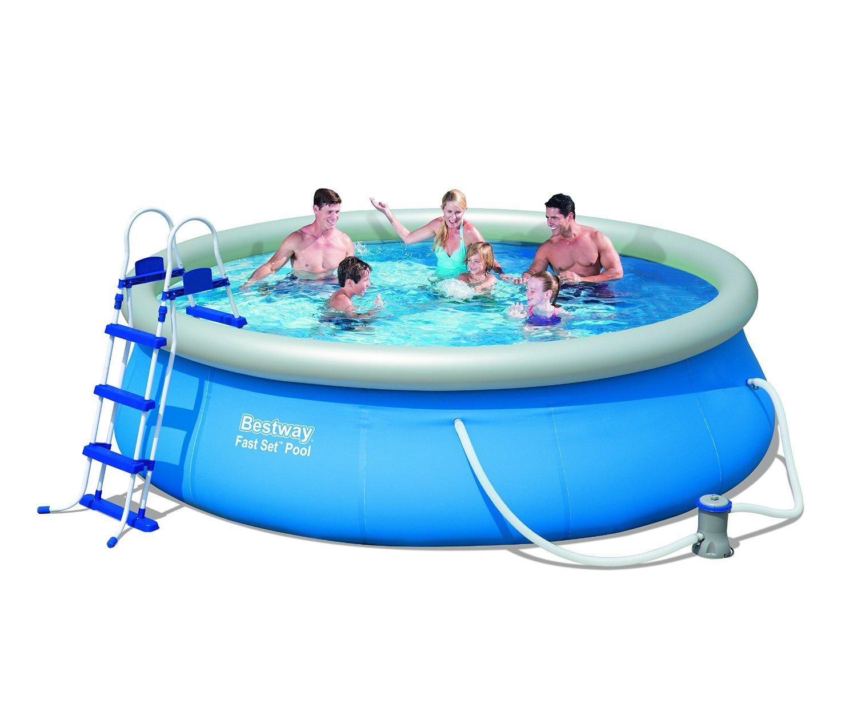 Piscina bestway 57166 fast set pool 366 x 91 cm piscina for Piscinas bestway carrefour