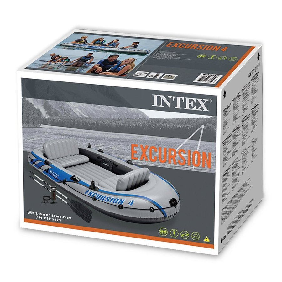 Intex 68324 gommone canotto gonfiabile excursion 4 set for Prodotti intex