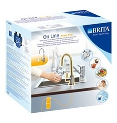 BRITA kit filtraggio per sottolavello Brita On Line Active Plus con rubinetto