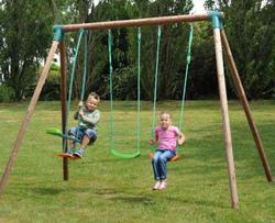 Set altalena giochi giardino NINFEA 2 altalene + cavalluccio mod.Ninfea cod.ALS1345