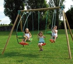 Set altalena PRIMULA giochi per bambini giardino 2 altalene + cavalluccio + dondolo Primula cod.ALS1351