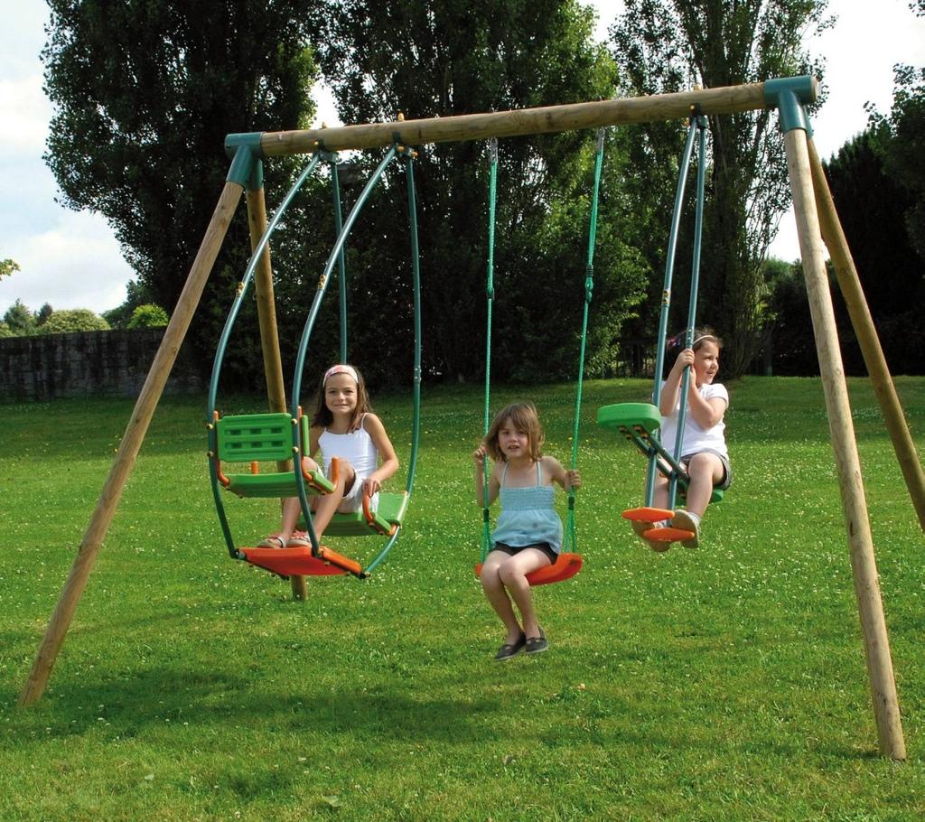 Set giochi giardino 2 altalene cavalluccio dondolo - Altalena per giardino ...