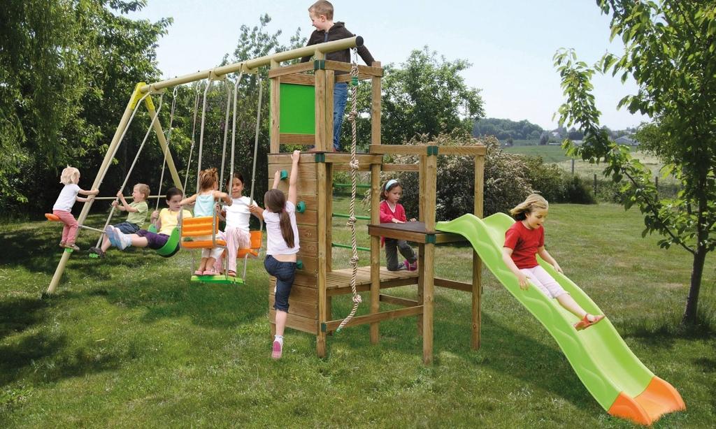 Area giochi giardino cheyenne altalena dondolo - Ringhiera in legno per giardino ...