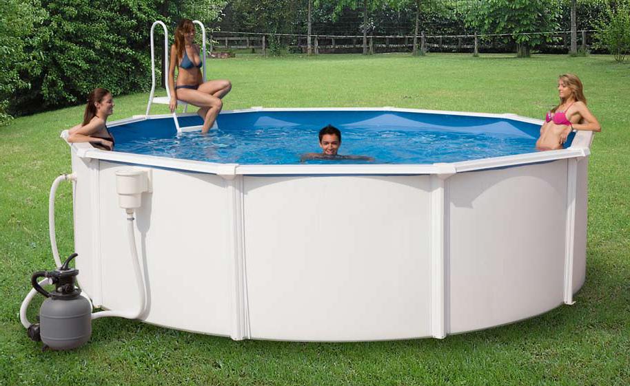 0051k piscina tonda new plast kit rivieras 600 h 120 for Kit piscina fuori terra