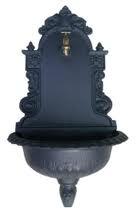 Fontana a Muro In Ghisa Color Antracite mod. TIROLO 45X25X80H Cm -55493