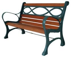 Panchina pesante legno ghisa HOUSTON cm 131x65x71 cod 93864
