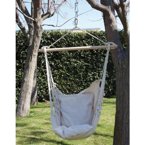 Amaca sedia a dondolo seduta in cotone amaca da giardino 55516 - Sedia a dondolo da giardino ...