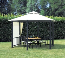 gazebo pergola 4x3 giardino terrazza top design telo idrorepellente color sabbia gaz361. Black Bedroom Furniture Sets. Home Design Ideas