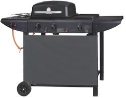 Barbecues a Gas WACO GPL con griglia pietra lavica con coperchio e fornello laterale