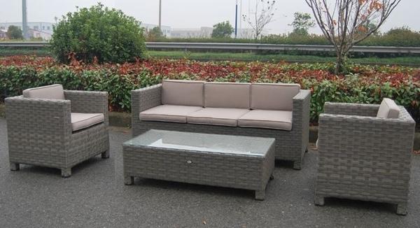 Vetro per salotto 3 posti da giardino in polyrattan color - Salotto per giardino ...