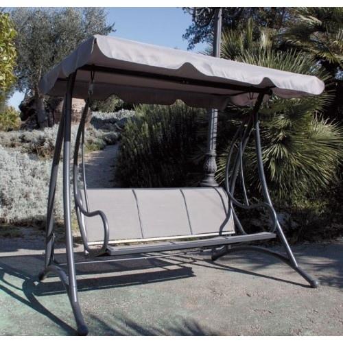Dondolo da giardino mod sapri in metallo alluminio 3 posti tessuto grigio - Amazon dondolo da giardino ...