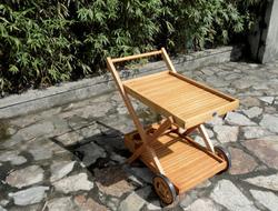 Carellino trolley da thè con ruote eucalipto 84x57x79 art 94441