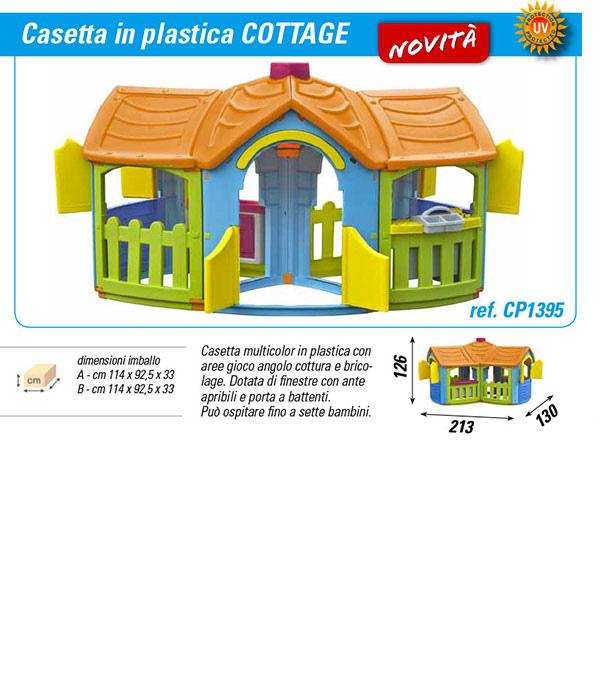 Casetta da giardino per bambini cottage cp1395 misure cm for Casetta in plastica per bambini usata