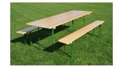 Set birreria MADE IN ITALY FRASSINO sagre resistente e pesante 2 panche tavolo cm 220x80x76 h con panche