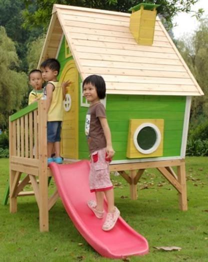 Casita para ni os de madera con tobog n fantasia 300 Disenos de casitas de madera para ninos