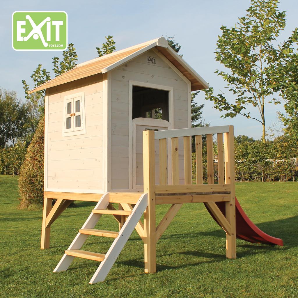 Casita para ni os de madera con tobog n beach 300 for Casas de madera ninos baratas