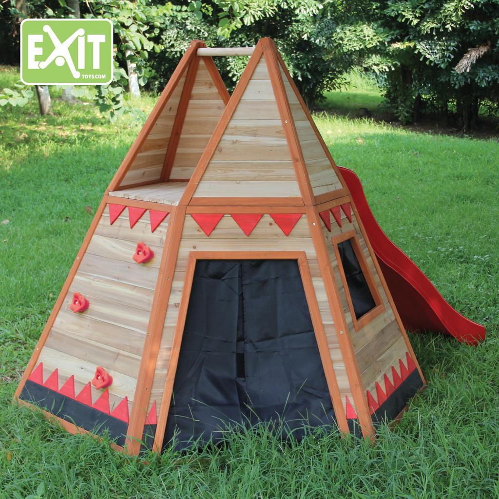 Casita para ni os de madera tipi for Casitas de madera para ninos