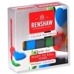 Conf. 5 pasta di zucchero Renshaw Regalice da 100 gr l'una colori primari