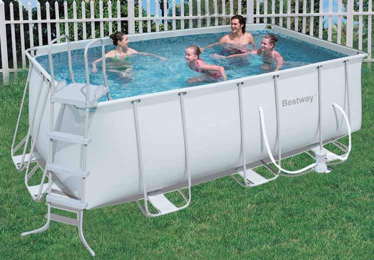piscina fuori terra da esterno rettangolare bestway frame