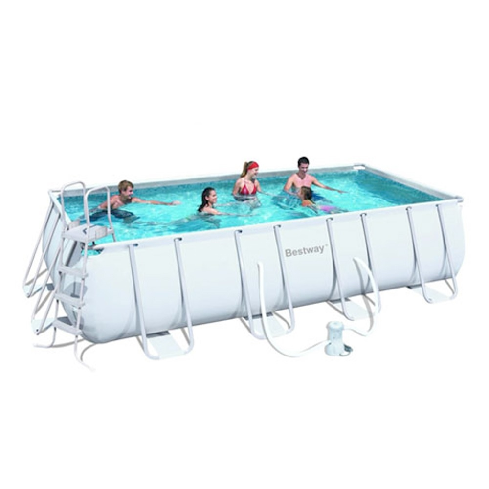 Piscina fuori terra da esterno rettangolare bestway frame for Montaje piscina bestway