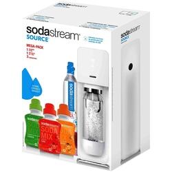 Gasatore Source White + 1 Bottiglia + 1 Cilindro + 3 Concentrati 500 ml - Source Mega Pack Limited Edition