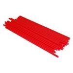 confezione 25 stecche per lecca lecca  in plastica 19 cm rosse