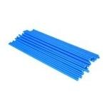 confezione 25 stecche per lecca lecca  in plastica 19 cm blu