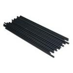 confezione 25 stecche per lecca lecca  in plastica 19 cm nere