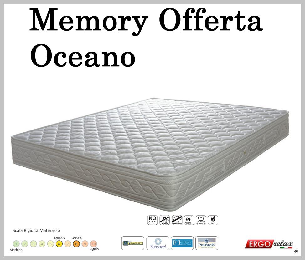 Materasso memory mod oceano singolo 80x190 195 200 - Altezza materasso ...