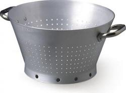 Colapasta conico da inserire in pentola alta con maniglie inox 3 mm diam 32 altezza 18