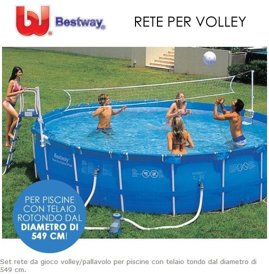 Rete pallavolo per piscine gioco rete volley bestway piscina 58179 cm 549 - Rete pallavolo piscina ...