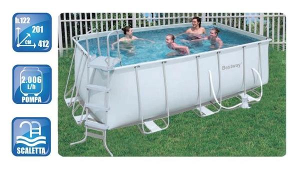 Piscina fuori terra da esterno rettangolare bestway frame - Montaggio piscina bestway ...