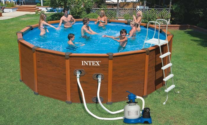 Piscina intex sequoia spirit cm 478 x 124cm con pompa for Filtro piscina intex