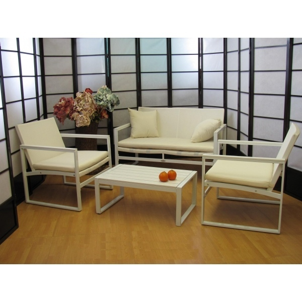 Salotto 4 pezzi da giardino per esterno textilene for Salotto giardino offerta