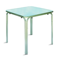 Tavolo Bar professionale quadrato 70 x 70 impilabile in alluminio e acciaio impilabile 4 gambe TC06