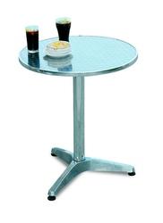 Tavolo Bar professionale rotondo diametro 60 in alluminio e acciaio 1 gamba 3 piedini