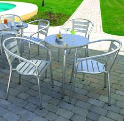 Sedia bar professionale in alluminio impilabile
