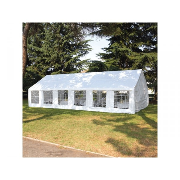 Gazebo 6 x 12 ferro plastificato completo di teli laterali for Gazebo 4x3 amazon