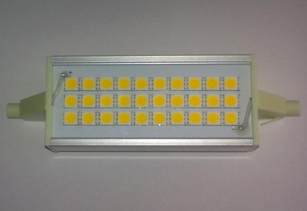 lampadina alogena led : Lampada R7s mm 118 a LED (tipo alogena lineare), 7W 220V tonalit? ...