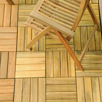 Piastrelle quadrotto in acacia per pavimenti esterni 30 x for Salottini per esterno prezzi