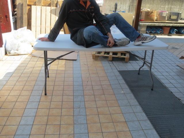 Tavolo pieghevole rettangolare 183 x 76 x 74 per catering sagre mercatini buffet riunione