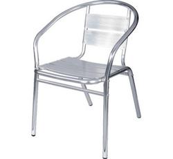Sedia bar impilabile con braccioli alluminio bar 48815