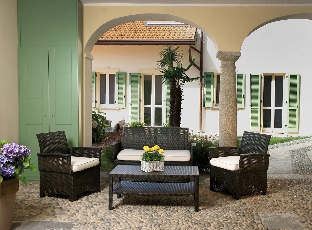 Set giardino in rattan moia cervia moro greenwood set100m - Rattan giardino ...